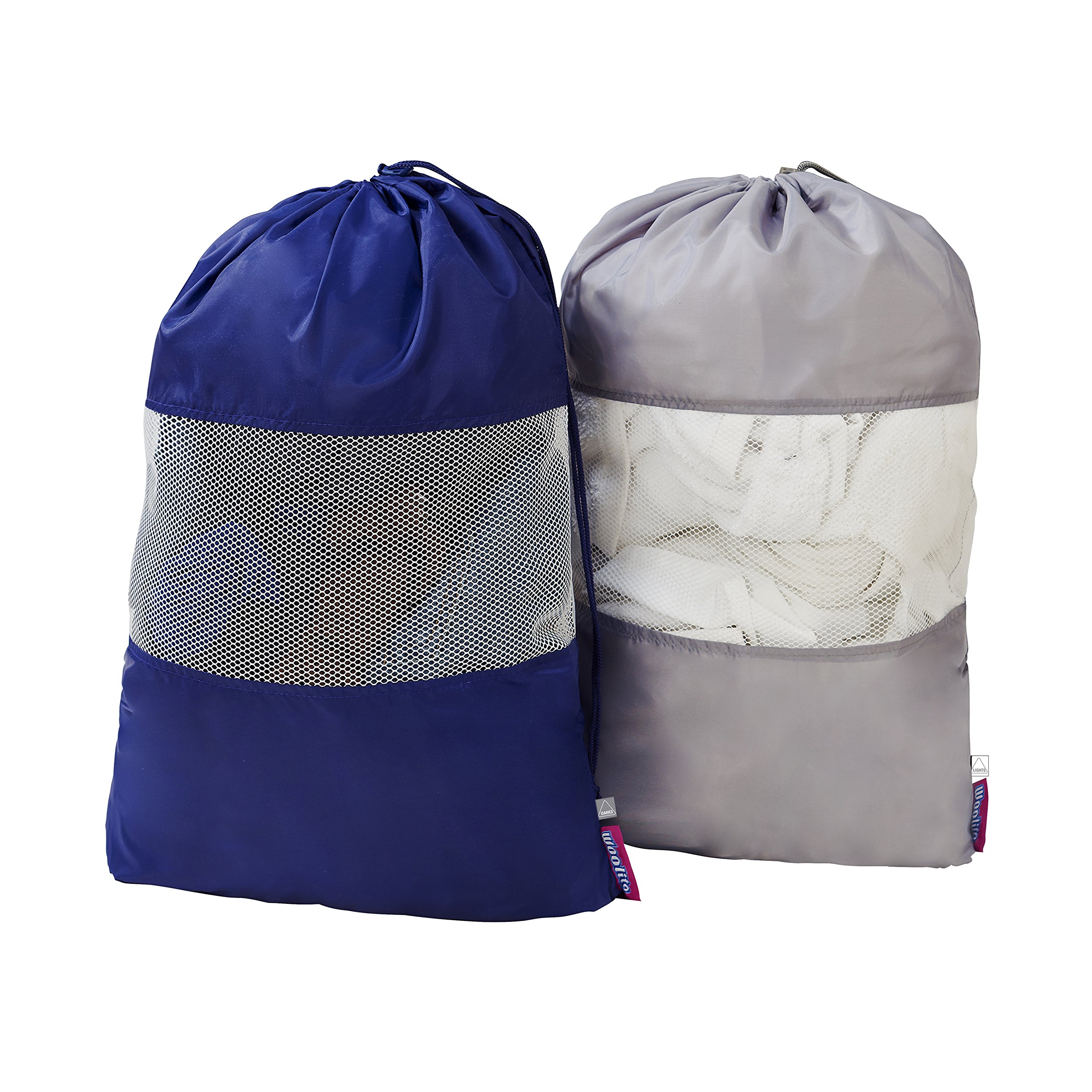Woolite 2 Pack Sanitized Laundry Bag with Mesh Window
