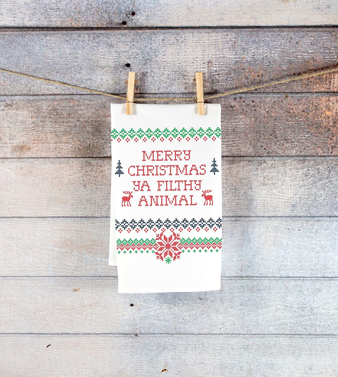 Funny Tea Towel Kitchen Decor Holiday Christmas Gift Ideas for Him or Her Kitchen Towel Christmas Holiday Sweater Style
