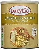 Babybio 3 Céréales Nature Riz Blé Avoine 8+ Mois 250 g - Lot de 3