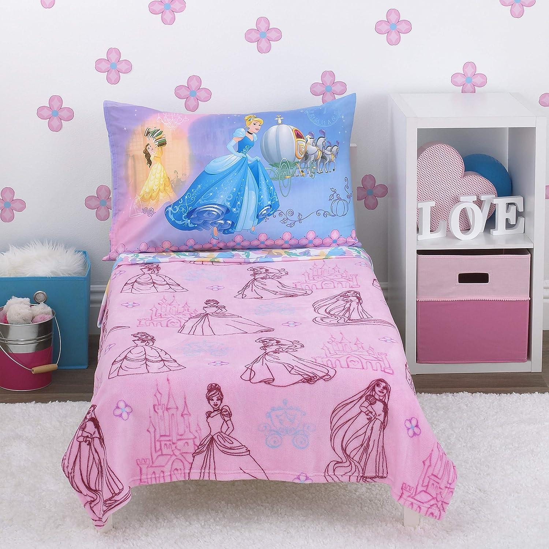 4 Piece Set Disney Pretty Princess Toddler Bed Pink