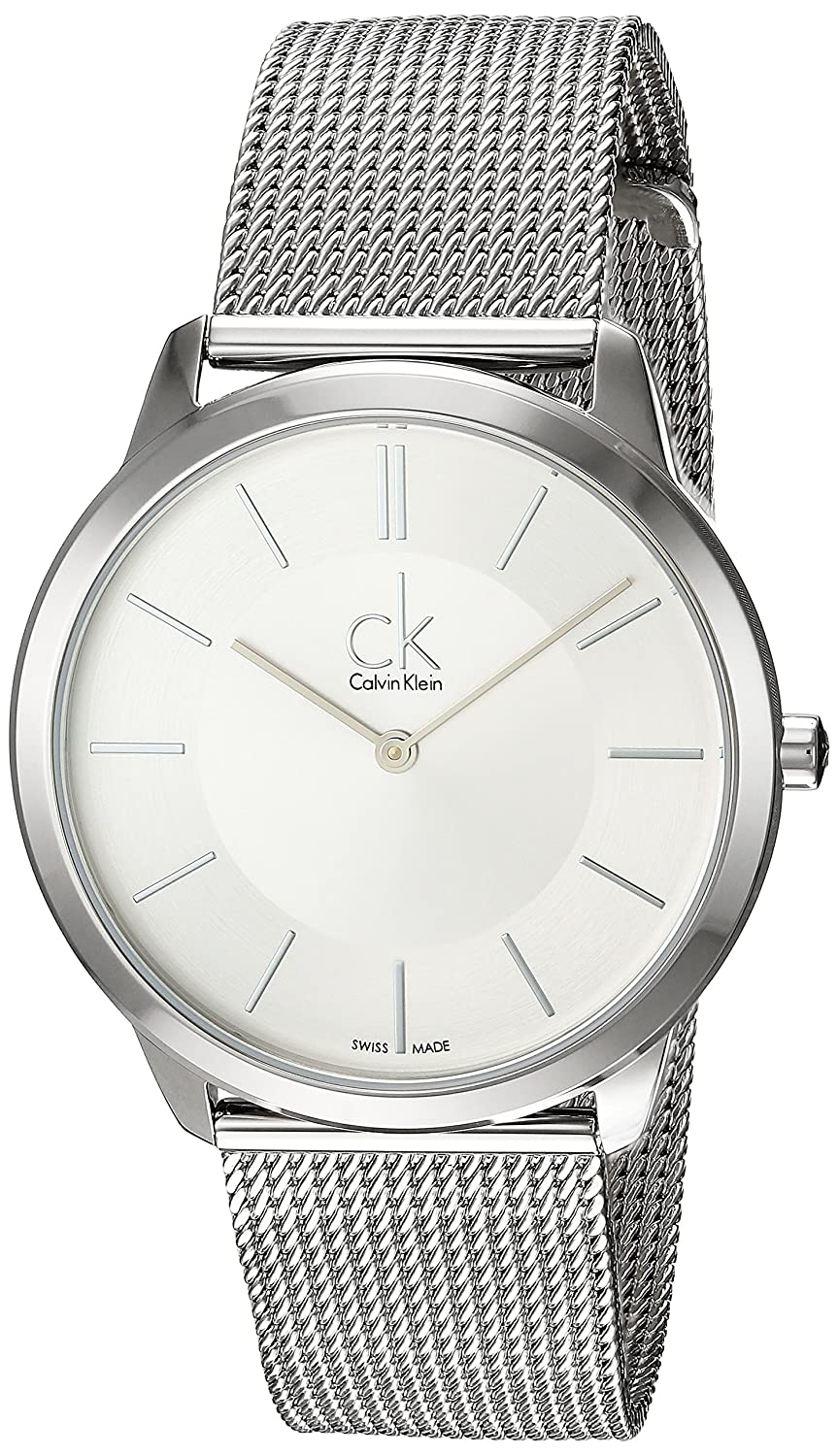 Amazon.com: Calvin Klein Swiss Made Minimal K3M21126 Wristwatch for Him Classic & Simple: Watches