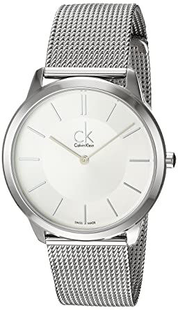 Calvin Klein Swiss Made Minimal K3M21126 Wristwatch for Him Classic & Simple