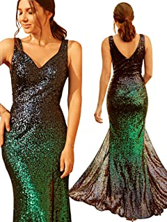14bd47d11656 Ever Pretty Women s V Neck Sparkling Gradual Sequin Mermaid Evening Dress  Prom Dress 07001