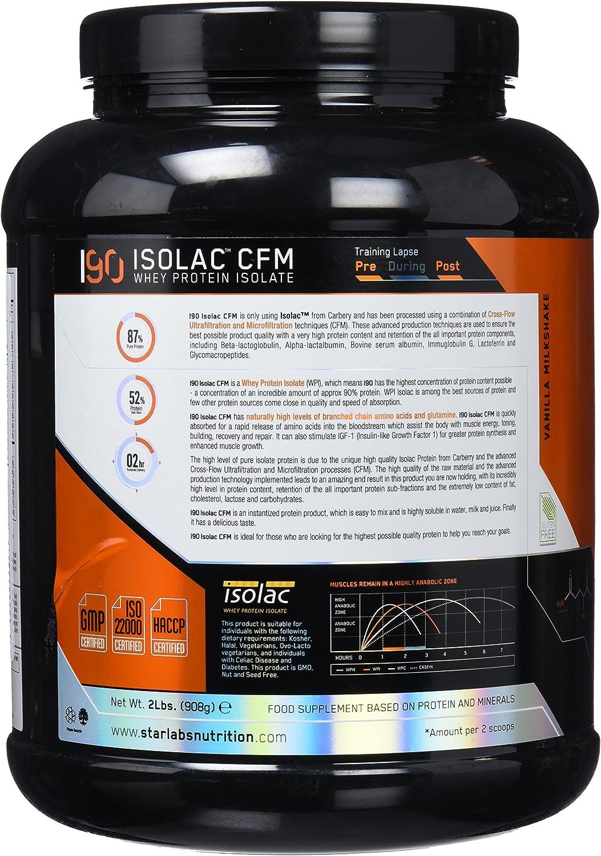 Starlabs Nutrition I90 Isolac CFM Vainilla Milkshake - 908 gr