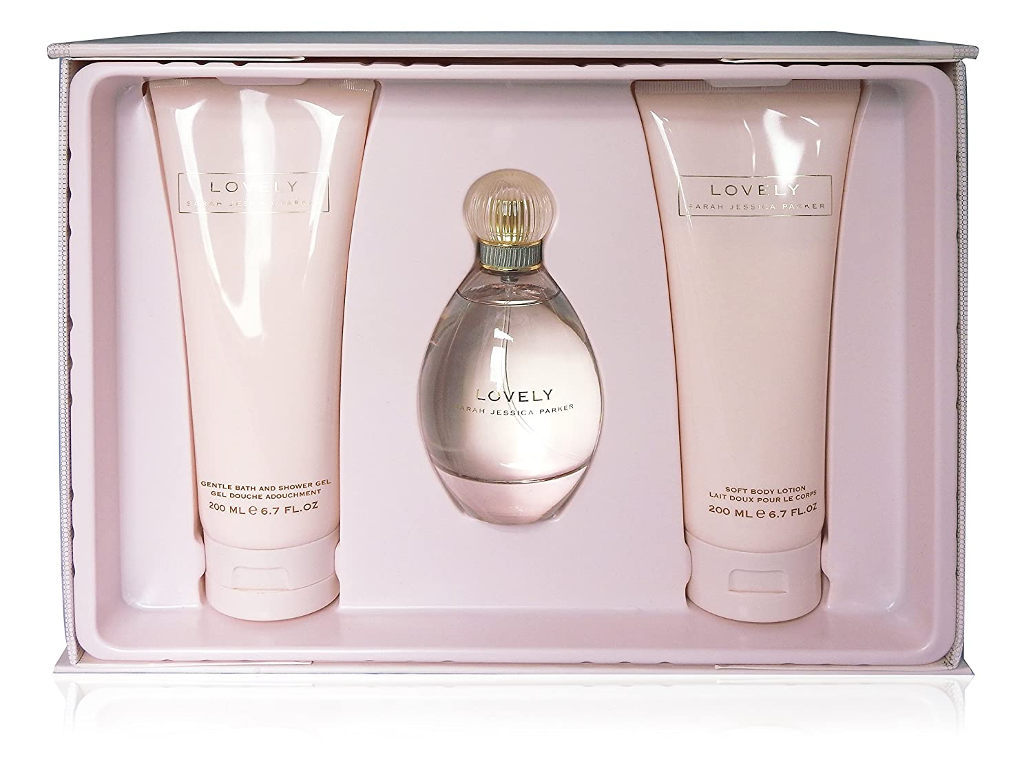 Sarah Jessica Parker Lovely Confezione Regalo 100ml Eau De Parfum + 200ml Gel Doccia + 200ml Lozione Corpo: Amazon.es: Belleza