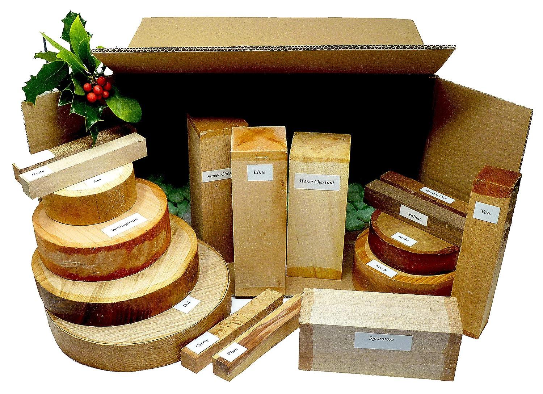 Mantas de madera dura de los lagos ingleses, 18 piezas, caja de selección de carteles, regalo perfecto para Navidad, cumpleaños. Bolígrafo giratorio de alta calidad, hecho a mano en Inglaterra