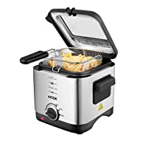 Fryer Aicok, Deep fat fryer, Mini chip fryer 1.5L, 900W,  Anti-hot  Handle, Non-stick coating , Easy to clean