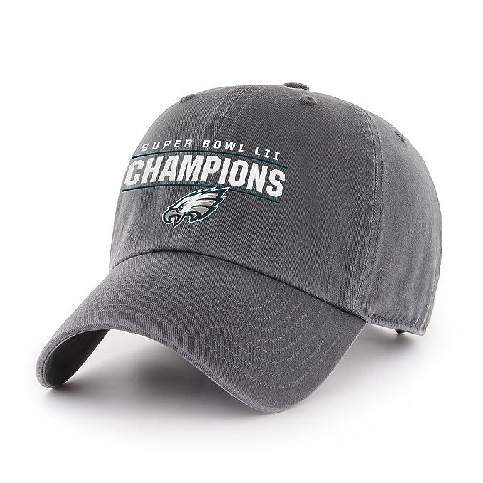 70f55f79314440 Amazon.com : OTS NFL Philadelphia Eagles Super Bowl SB52 Champions  Challenger Adjustable Hat, Black, One Size : Sports & Outdoors