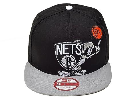 the latest 6cdd4 c4db0 New Era 9Fifty NBA Brooklyn Nets Marvin Logo Pose Snapback Cap Black   Amazon.co.uk  Sports   Outdoors