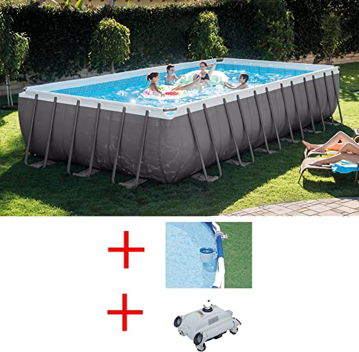 Oferta piscina Intex 28362 ultraframe 732 x 366 x 132 cm + Robot ...