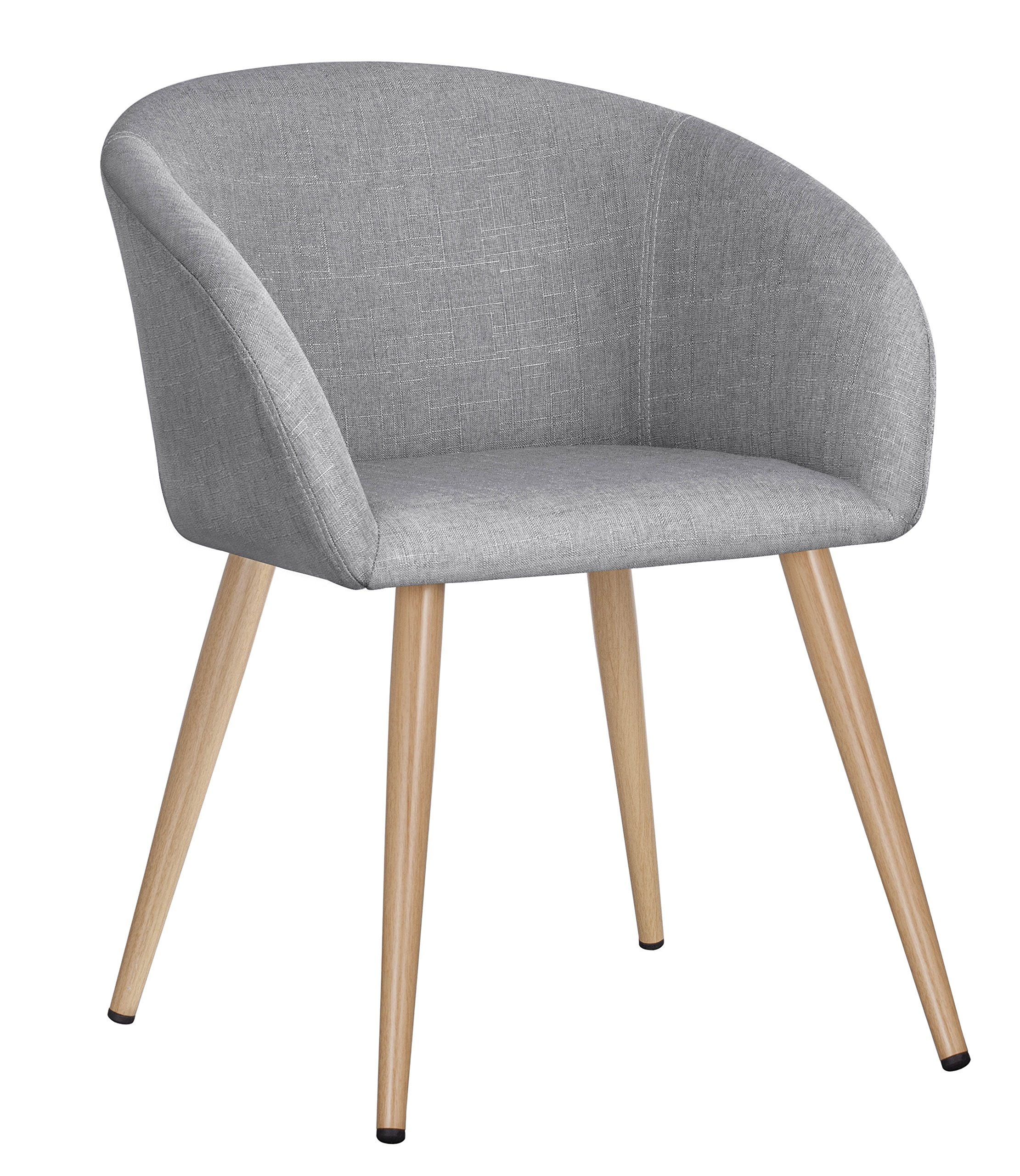 Duhome Fabric Home Office Leisure Accent Chair Living Room Reception Side Chair with Armrest (Grey)