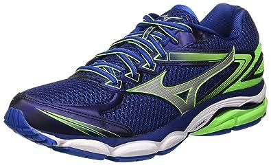 Mizuno Wave Ultima 8 - Chaussures de Running Compétition - Homme - Bleu (Twilightblue/Silver/Greengecko) - 39 EU (6 UK)