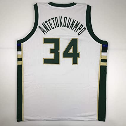 online store db735 f2f5a Unsigned Giannis Antetokounmpo Milwaukee White Custom ...