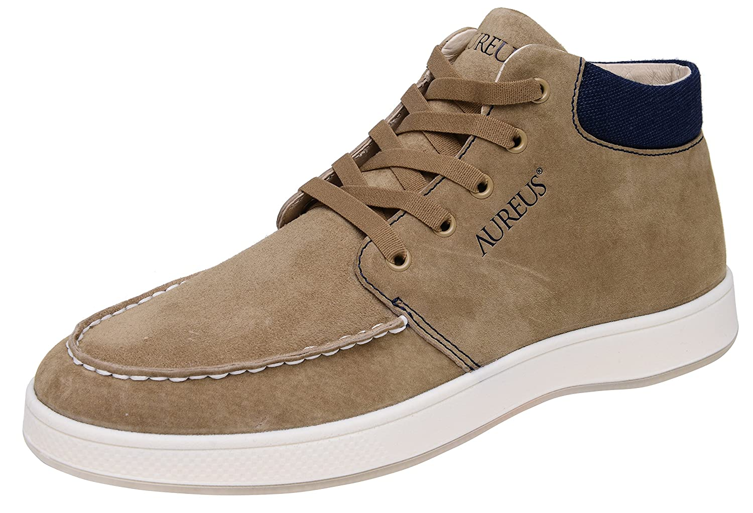Aureus Men's Ruben Nubuck Leather Mid Top Shoe B01E9ENE1E 9.5 D(M) US|Khaki