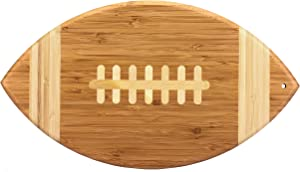 """Totally Bamboo Football Shaped Bamboo Serving and Cutting Board, 14"""" x 8-1/2"""""""