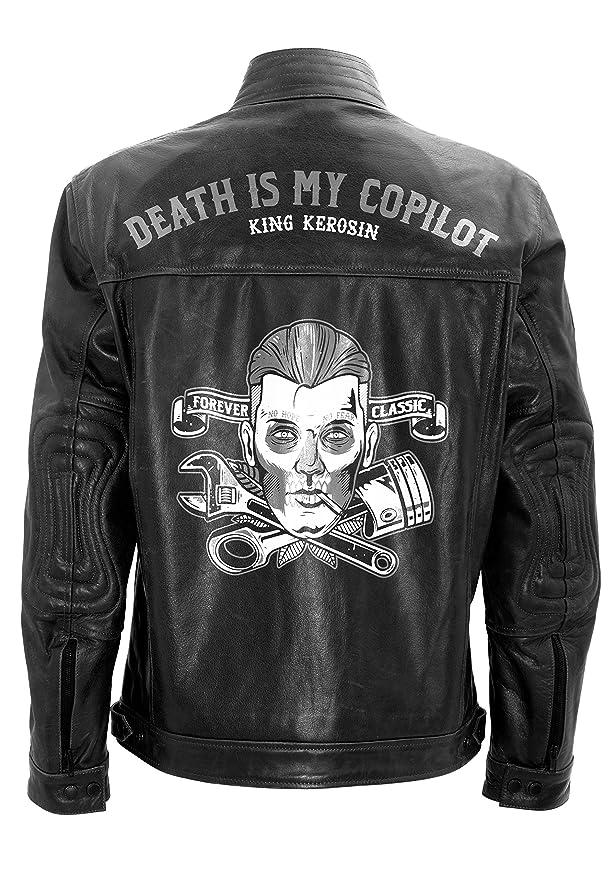 Kerosin Vintage Mit Druck My Lederjacke Death King Is 0Pk8OnwX