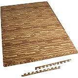 GORILLA SPORTS® Schutzmatten-Set mit Endstücken - Puzzle-/Unterleg-Matten 62,5 x 60,5 x 1,2 cm
