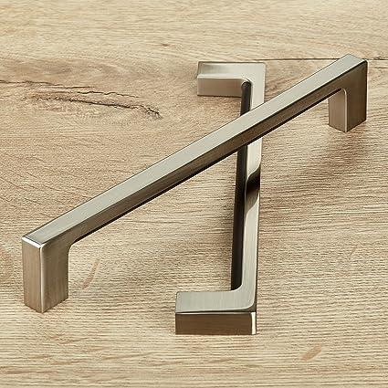 SO-TECH/® Maniglia per Mobili E3 vero Acciaio Inox Distanza Fori 192 mm Maniglia a Barra Maniglia a Corrimano Profilo 15 x 15 mm