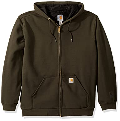 Carhartt Men s Rain Defender Rutland Thermal Lined Hooded Zip Sweatshirt 305d8bba6d3