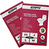 Gypsy Hygienic Disposable Paper Toilet Seat Covers (Set Of 2 Packs, Total 20 Sheets )