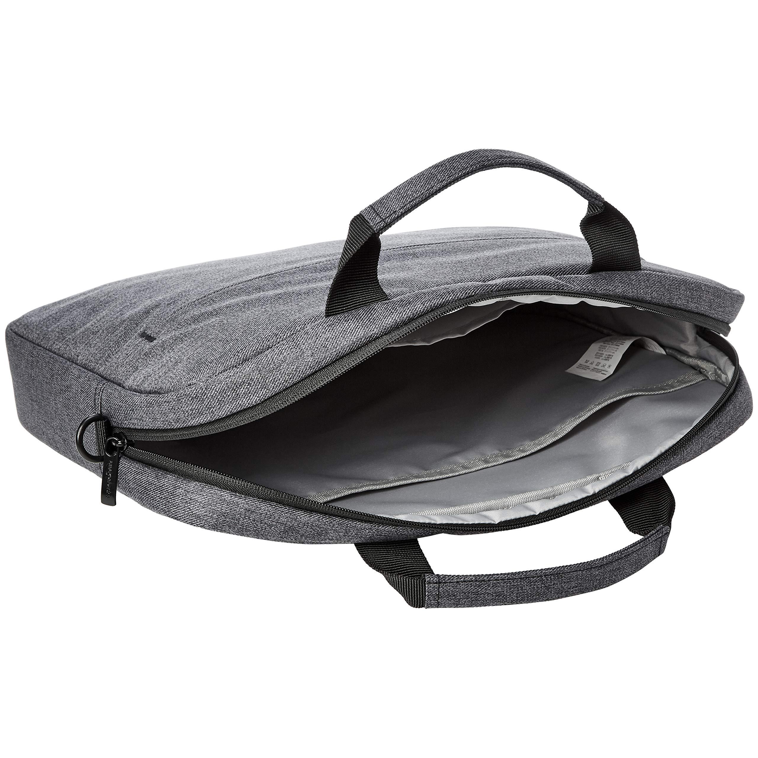 AmazonBasics Urban Laptop and Tablet Case Bag, 17 Inch, Grey by AmazonBasics (Image #6)