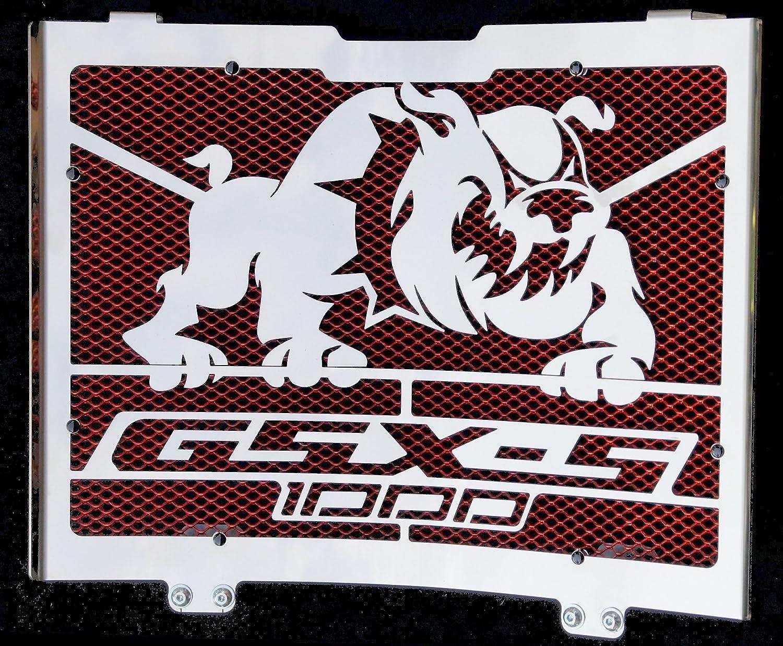 Grillage Anti gravillon Rouge Cache radiateur//Grille de radiateur INOX Poli pour 1000 GSX-S