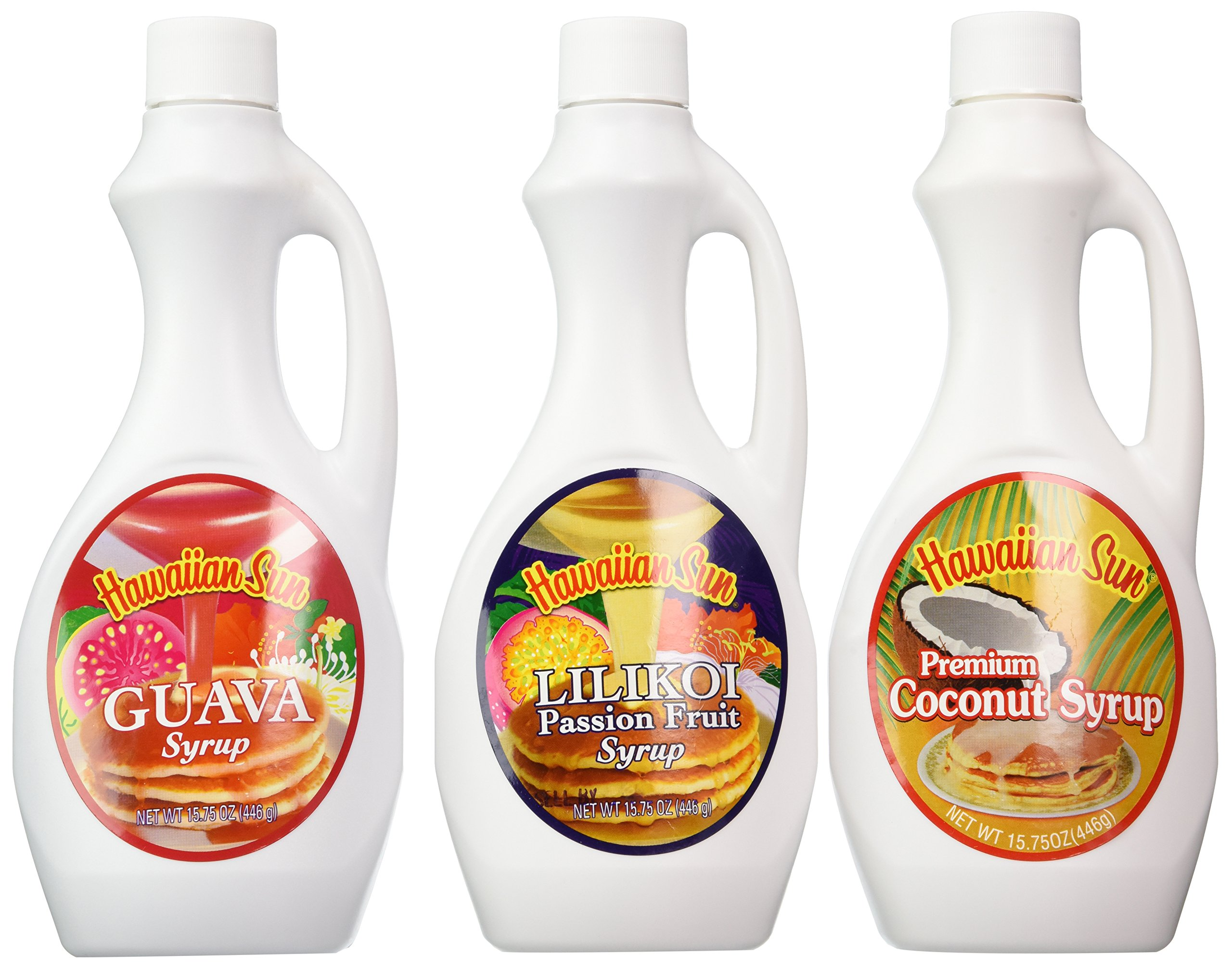 Hawaiian Sun Premium Syrup Assortment 15.75-ounce (Pack of 3) by Hawaiian Sun (Image #1)