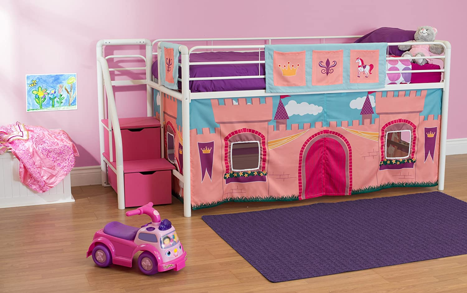 Amazon DHP Curtain Set For Junior Loft Bed With Princess Castle Design Kitchen Dining