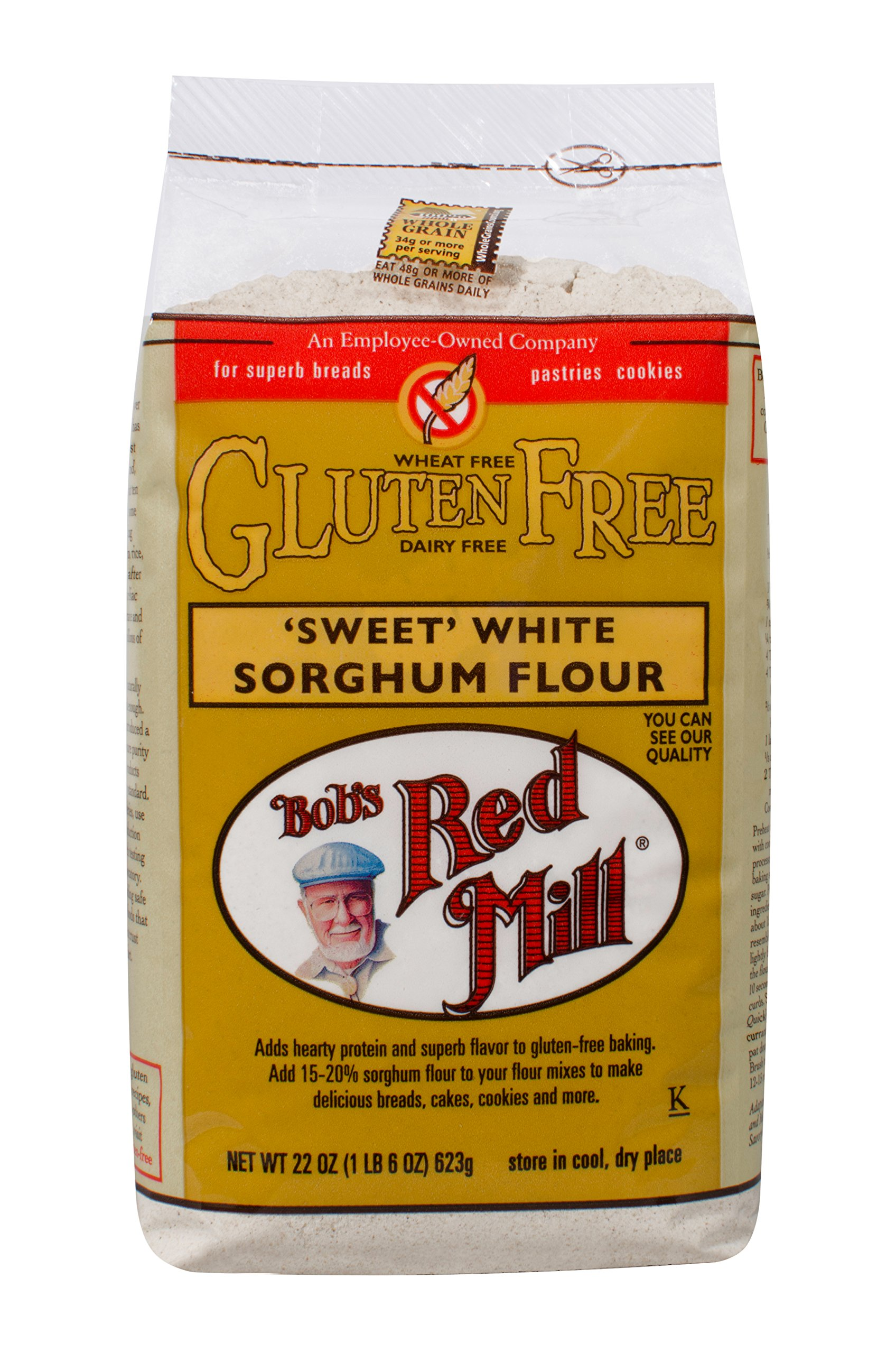 Bob's Red Mill Gluten Free Sweet White Sorghum Flour, 22-ounce by Bob's Red Mill