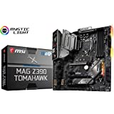 MSI MAG Z390 Tomahawk LGA1151 (Intel 8th and 9th Gen) M.2 USB 3.1 Gen 2 DDR4 HDMI DP CFX Dual Gigabit LAN ATX Z390 Gaming Motherboard