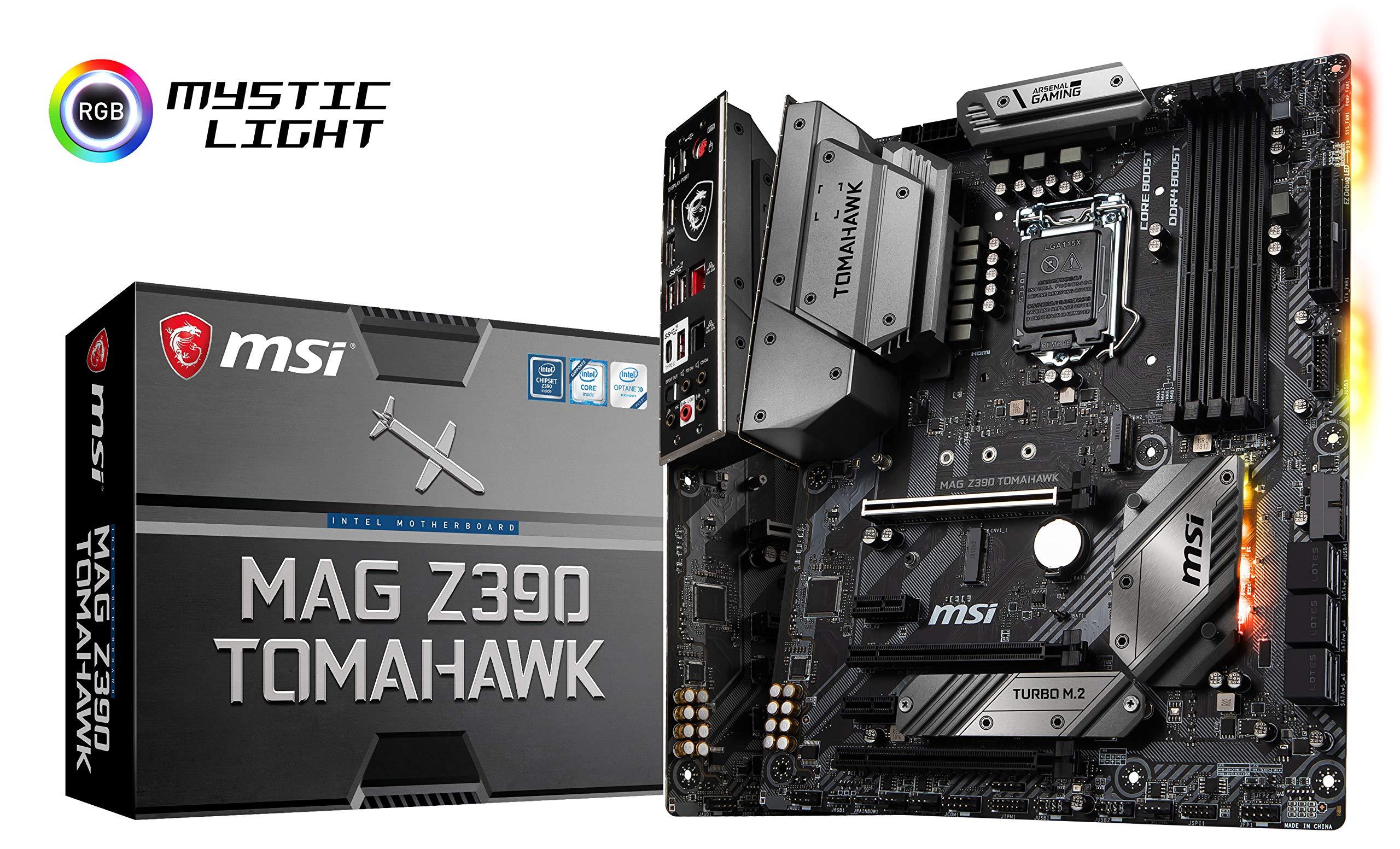 MSI MAG Z390 Tomahawk LGA1151 (Intel 8th and 9th Gen) M.2...
