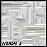 20 m² Deckenplatten Styroporplatten Stuck Decke Dekor Platten 50x50cm, NORMA 2