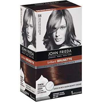Amazon Com John Frieda Precision Foam Hair Colour Medium Natural Brown 5n 2 Pk Beauty