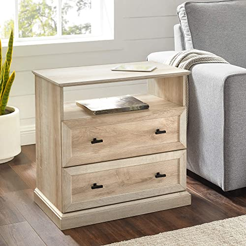 Walker Edison Clyde Classic 2 Drawer Nightstand
