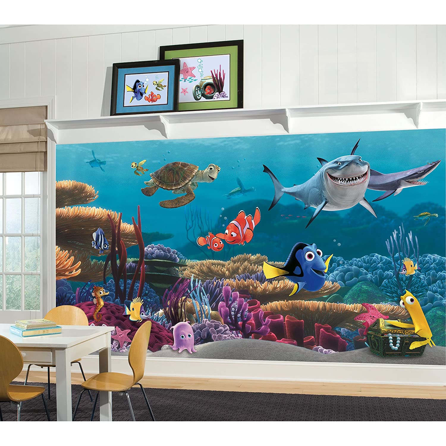 Merveilleux RoomMates JL1278M Finding Nemo Prepasted Mural 6 Feet By 10.5 Feet,  Ultra Strippable   Decorative Wall Appliques   Amazon.com