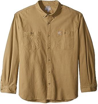 Carhartt - Camisa de trabajo de manga larga para hombre - Verde - 4X-Large: Amazon.es: Ropa y accesorios