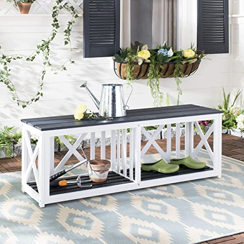 Safavieh FOX6706K Outdoor Collection Branco Grey Bench