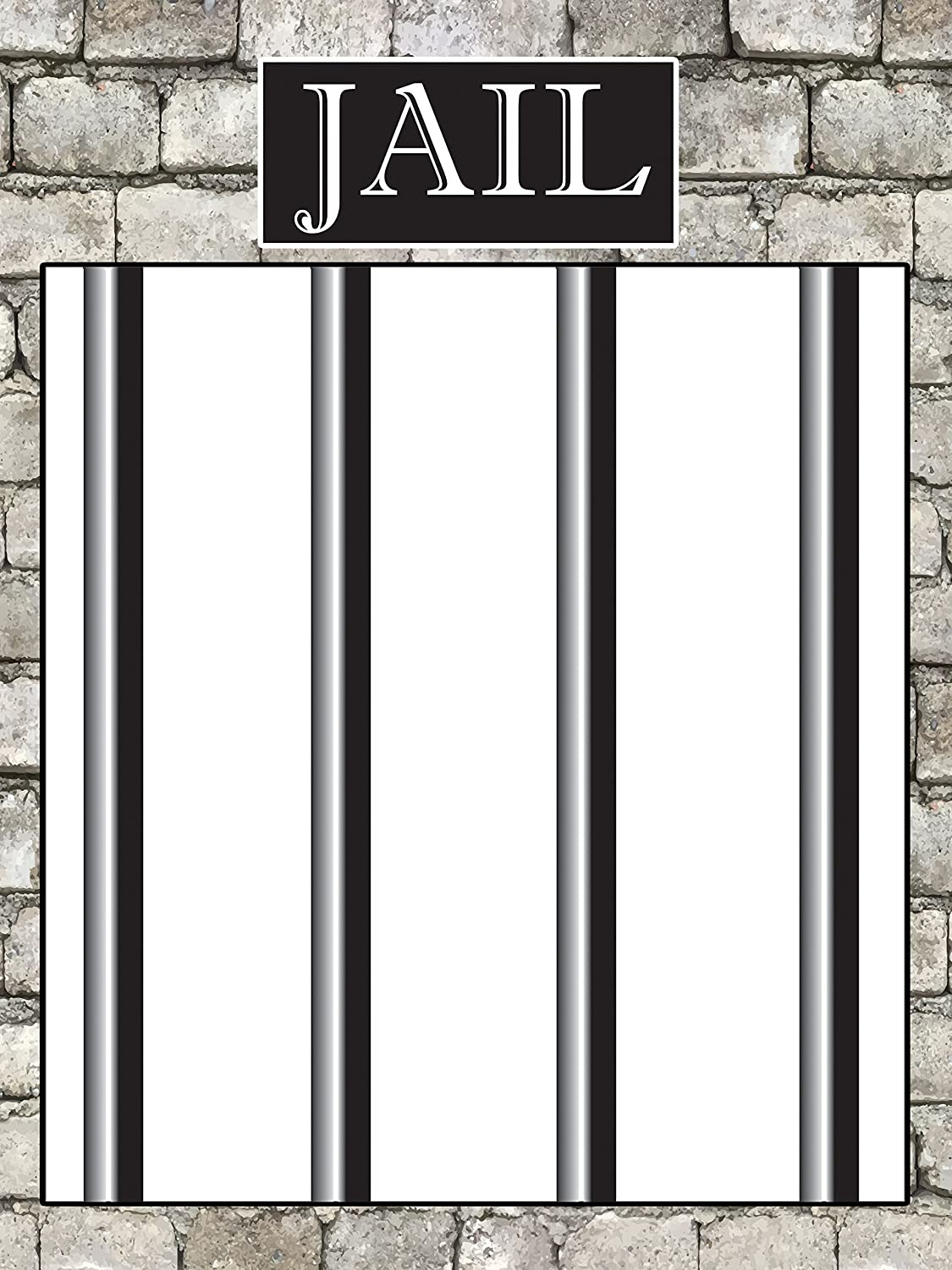 Amazon.com: Custom Jail Party Photo Booth Frame - Size 36x24, 48x36 ...