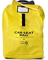 Travel Babeez Durable Car Seat Travel Bag, Airport Gate Check Bag with Easy-to-Carry Backpack-Style Shoulder Straps & Zipper Closure | Ballistic Nylon (Bright Yellow)
