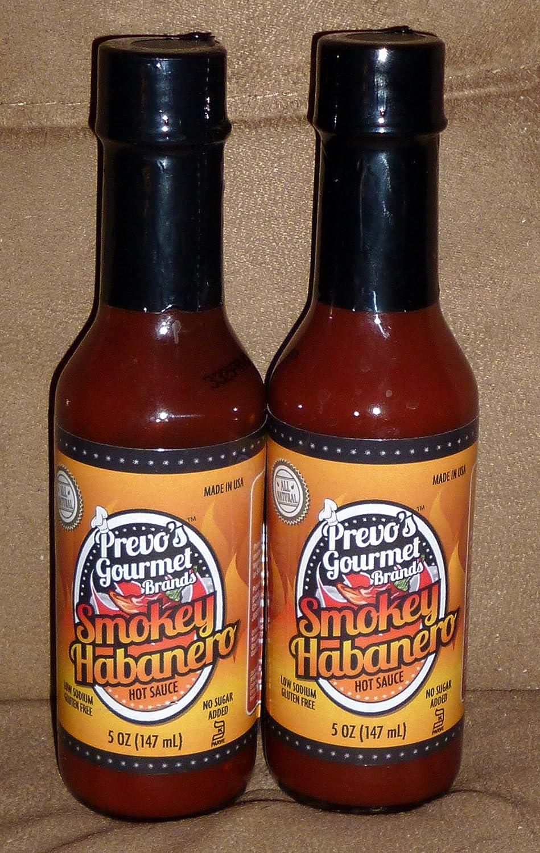 Amazon com : Prevo`s Gourmet Brands Smoky Habanero Hot Sauce