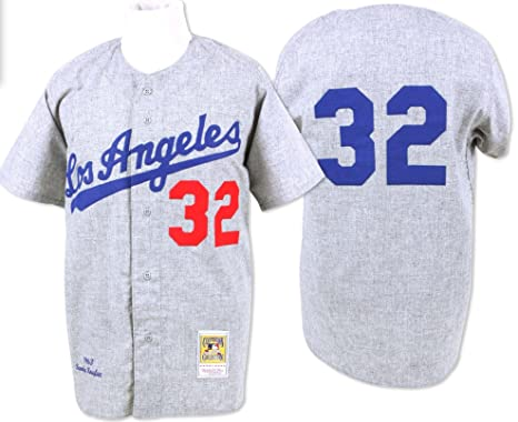 Sandy Koufax Los Angeles Dodgers Mitchell   Ness Authentic 1963 Button Up  Jersey 505ec8d268d