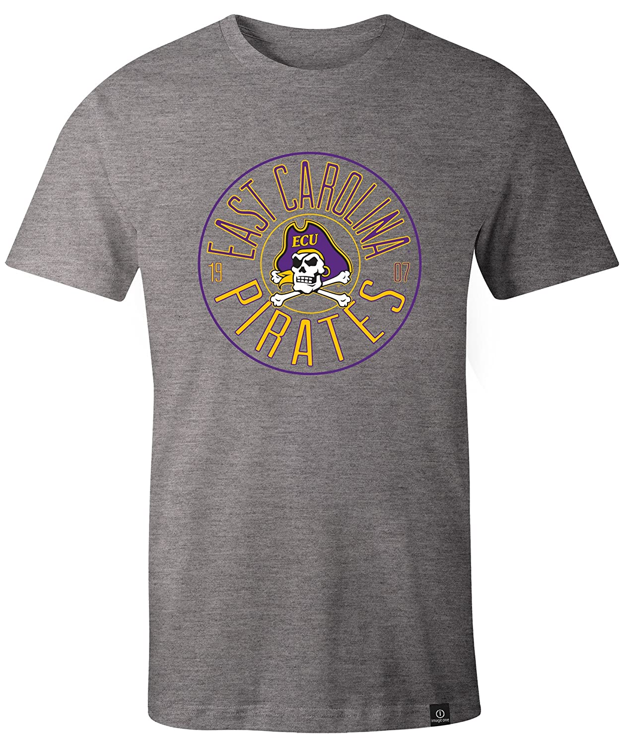 NCAA East Carolina Pirates Adult NCAA Circles Image One Everyday Short sleeve T-Shirt XX-Large,HeatherGrey