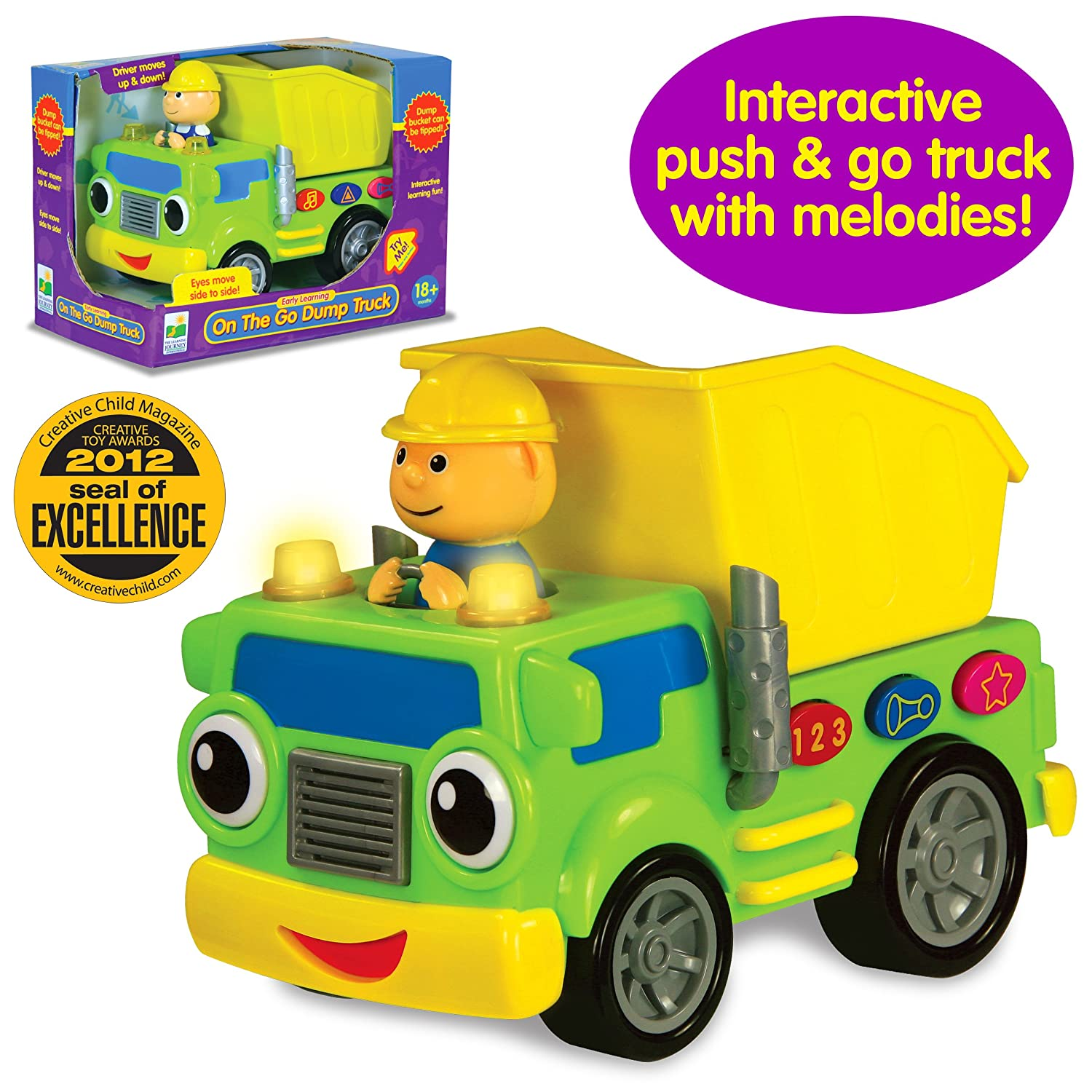 amazon com the learning journey on the go dump truck toys u0026 games