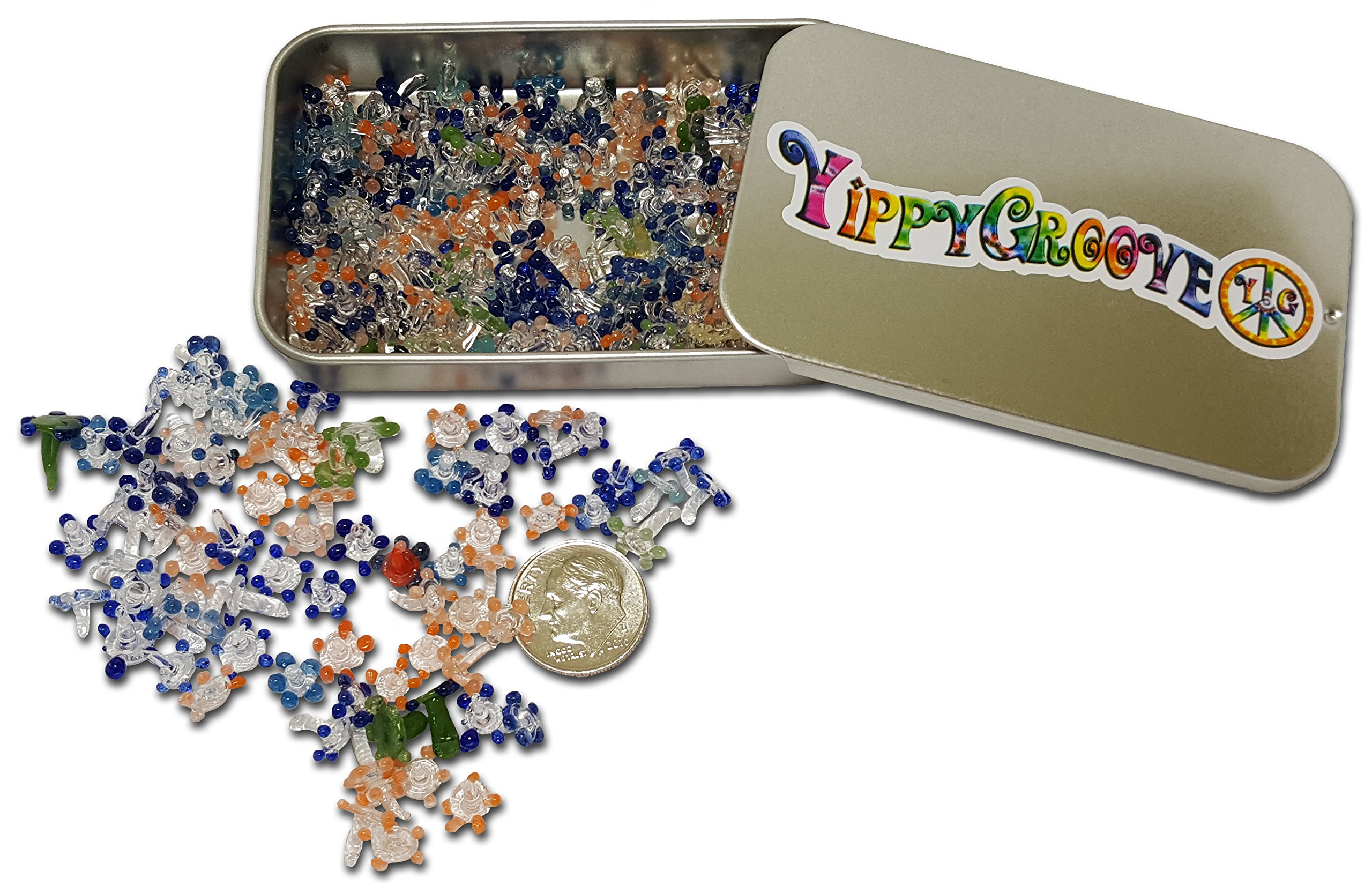Premium Glass Daisy Pipe Screen ~ 200 Pieces Exceptional Daisy Screens in a Limited Edition YippyGroove StashTin-for a Cleaner, Safer, Ash-Free Smoke (200) by YippyGroove