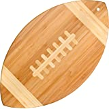 """Totally Bamboo Football Shaped Bamboo Serving Board,  14"""" by 8.5"""""""