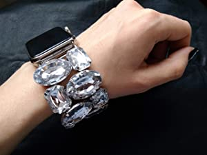Rhinestone Apple Watch Band 38mm, Apple Watch Band 40mm,Apple Watch Band 44mm, bling, 42 mm rose gold Silver Apple iWatch Band 38 mm Bracelet,