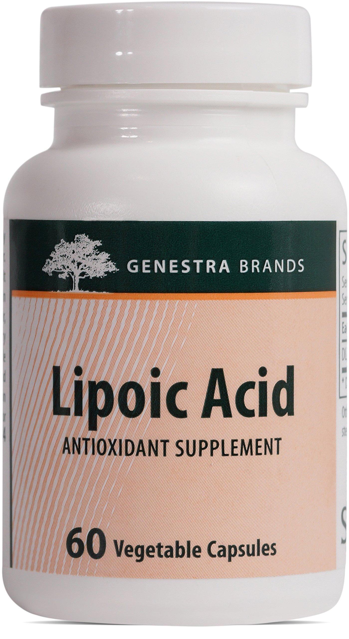 Genestra Brands - Lipoic Acid - Vegan Alpha Lipoic Acid Formula - 60 Vegetable Capsules