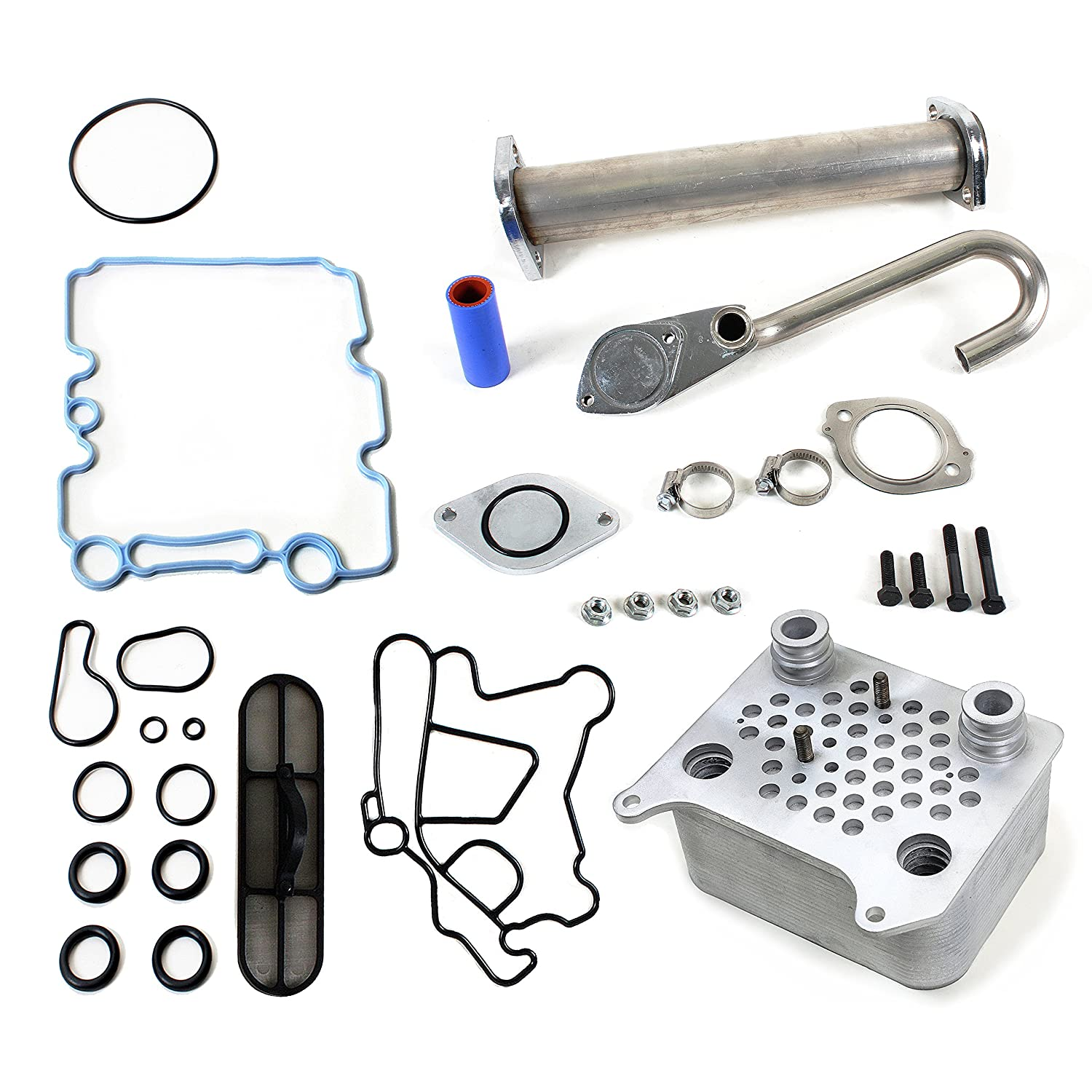 CNS EGR-DK-OCK4 EGR Delete Kit & Engine Oil Cooler Kit for Ford E-Series / F-Series / EXCURSION 6.0L (363cid) OHV V8 POWER STROKE DIESEL TURBO 03-10 by CNS EngineParts