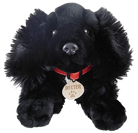 Keel Toys 35 Centimeter Black Spaniel Soft Toy Dog Dexter Exclusive To Toyland
