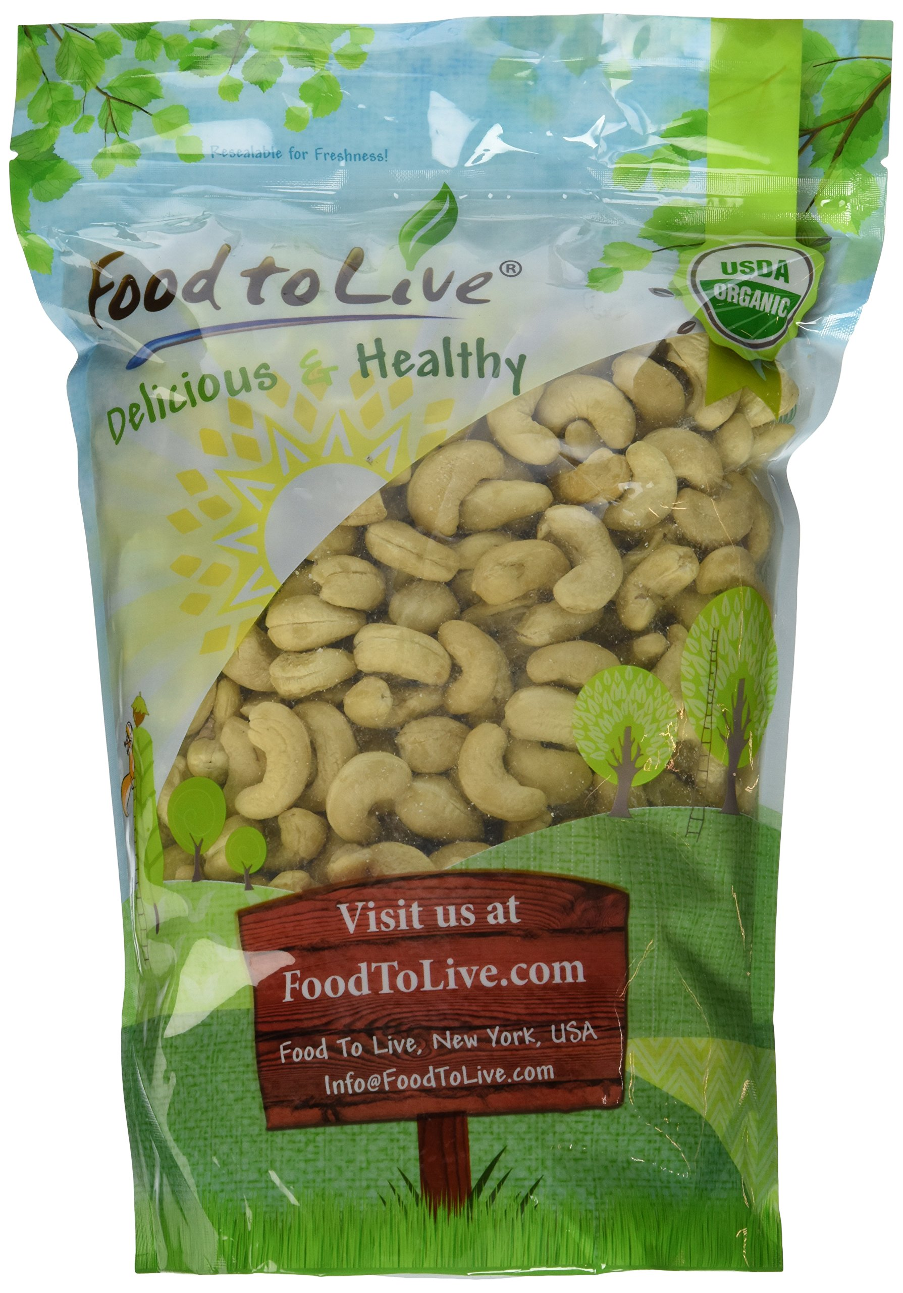 Food to Live Organic Cashews (Whole, Raw) (2 Pounds)